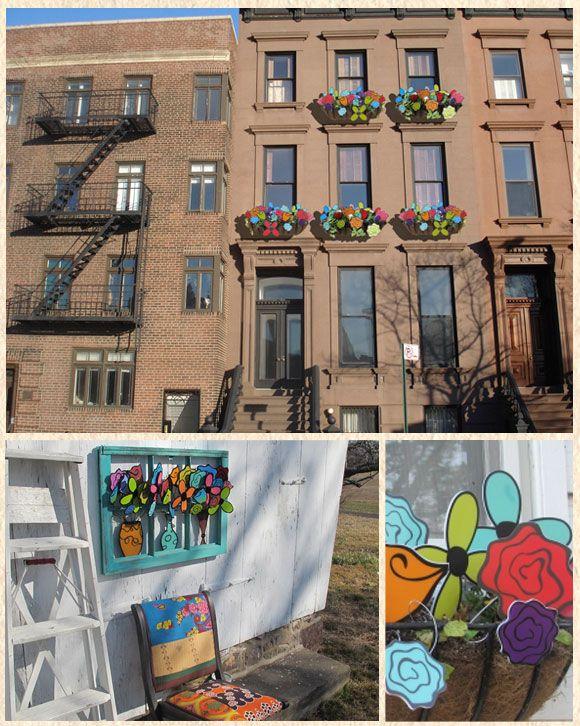 Art flower windows by Colleen Attara Studio.Amazing Art, Urban Oasis, Art Flower, Attara Studios, Outdoor Decor, Flower Windows, Colleen Attara