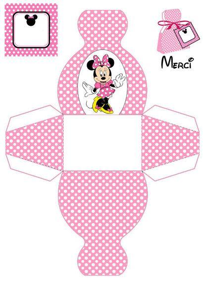 Minnie box template