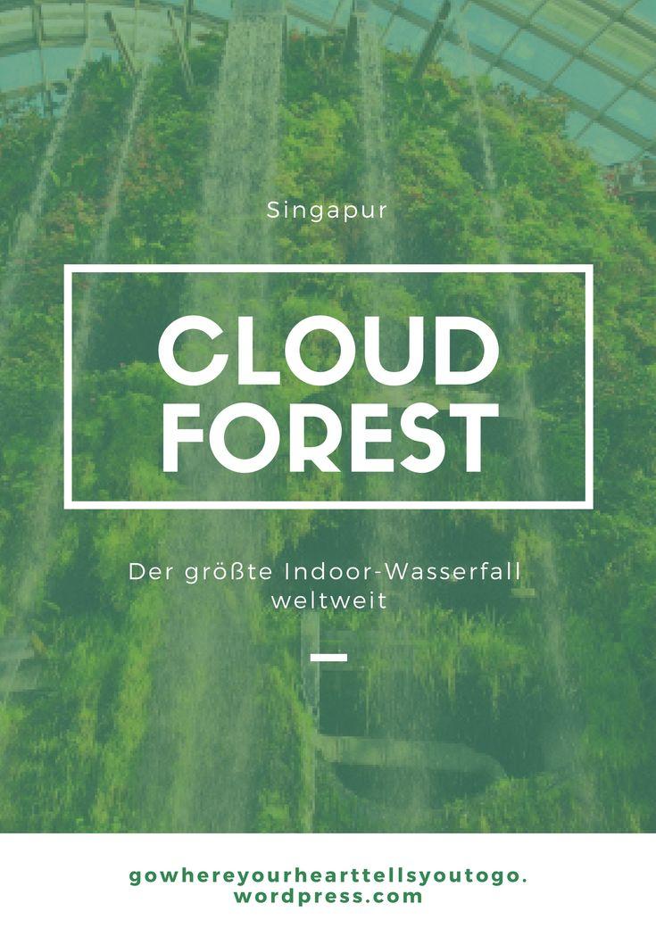 Eine grüne Abkühlung gefällig? Ab in den Cloud Forest, der den größten Indoor-Wasserfall weltweit für euch bereithält.  #cloudforest #gardensbythebay #singapur