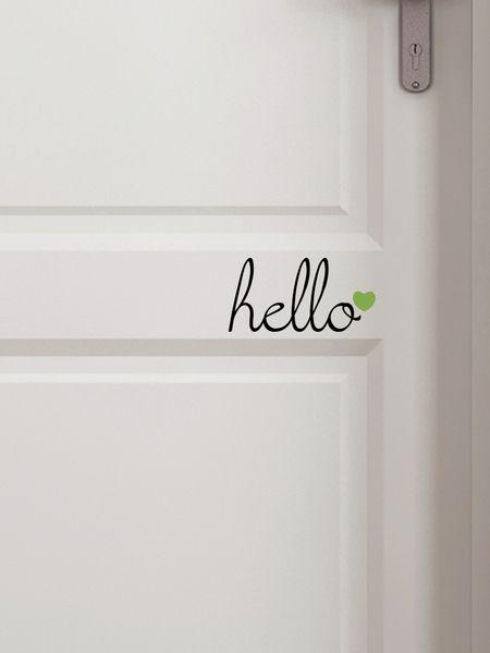 """Türschild """"hello"""" von jamsstyle auf DaWanda.com"""