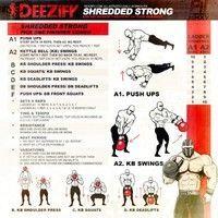 illustrated workout get shredded strong