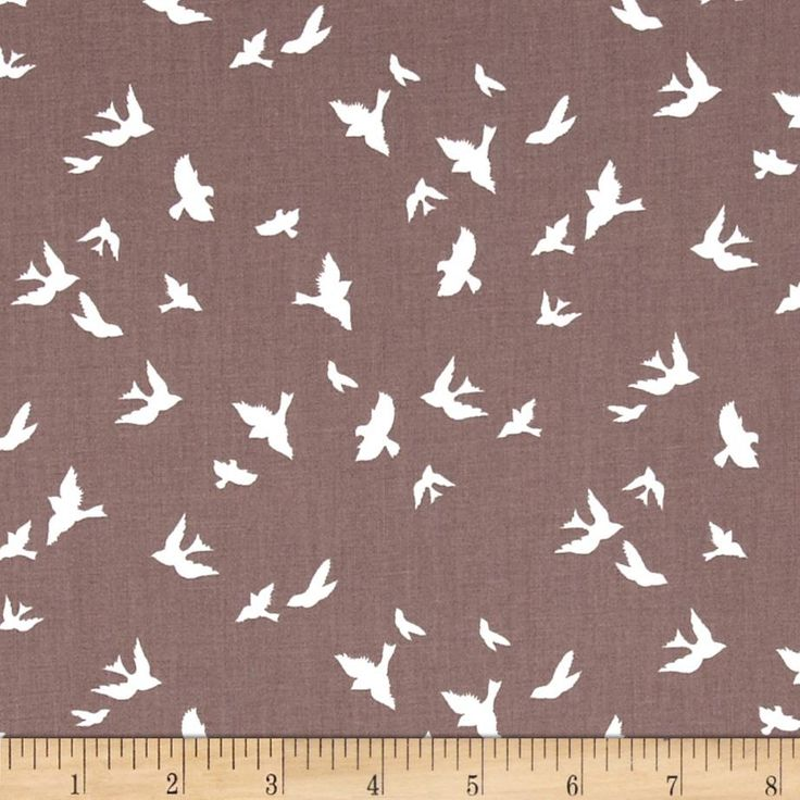 Violet Craft Brambleberry Ridge Flight Taupe from @fabricdotcom  Designed by Violet Craft for Michael Miller, this cotton print is perfect for quilting, apparel and home decor accents.  Colors include taupe and white.