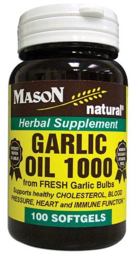 Mason Vitamins Garlic Oil 1000 Softgels 100Count Bottles Pack of 4 ** Visit the image link more details-affiliate link. #BloodPressure Support