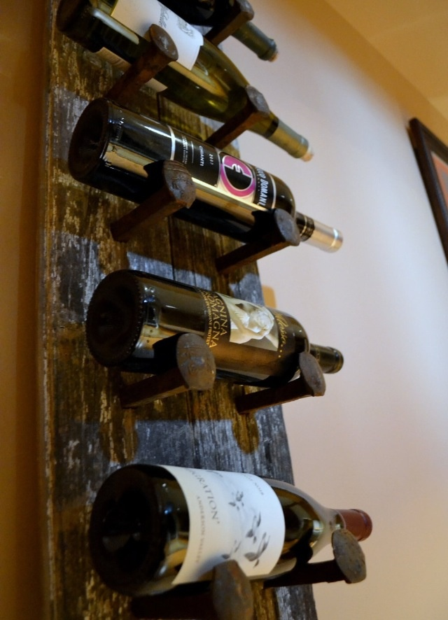 Railroad tie & spike wine rack. DOING THIS