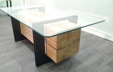 1000 images about mobilier bois massif on pinterest - Table basse rangements ...