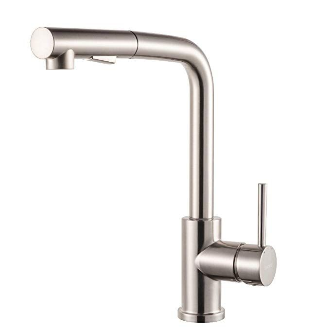 65 Lordear Bar Sink Faucet Modern Style Stainless Steel 2 Water Function Setting Single Brushed Nickel Kitchen Faucet Bar Sink Faucet Kitchen Sink Faucets
