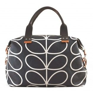 NEW Orla Kiely Linear Stem Weekend Bag – Black