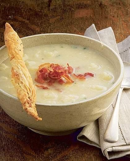 Zuppa di cavolfiore e pancetta