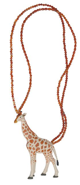 #Giraffe #necklace #africa #unconventional #jewels #madeinitaly by #zushii