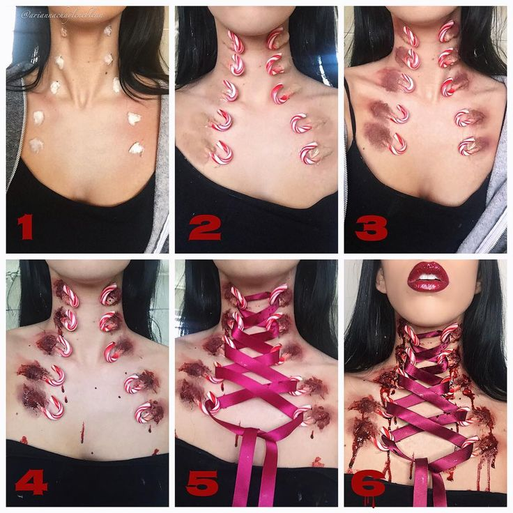 "9,561 Likes, 196 Comments - Arianna Chaylene (@ariannachayleneblean) on Instagram: ""laced up candy cane chest corset  disclaimer: this is 100% SFX makeup •• thank you guys so much…"""
