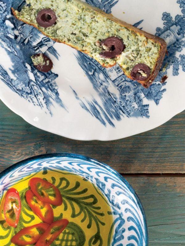 Recept Ricottataart met groene kruiden en olijven