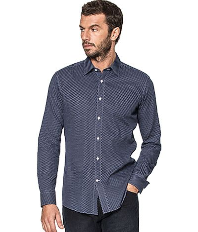 Blue dotted 100% cotton Shirt http://www.tailor4less.com/en-us/men/shirts/2381-blue-dotted-100-cotton-shirt