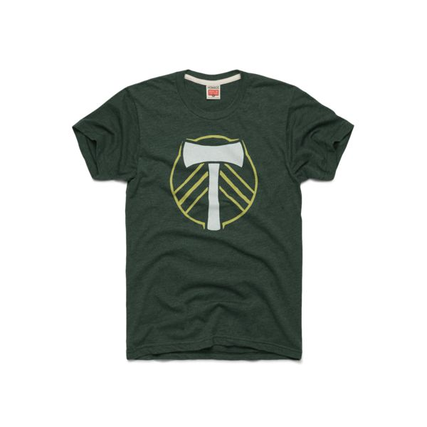 Timber! Grab your axe (and this tee) and rep your Portland Timbers as they take to the field this season. With supporters groups like the Timbers Army keeping P