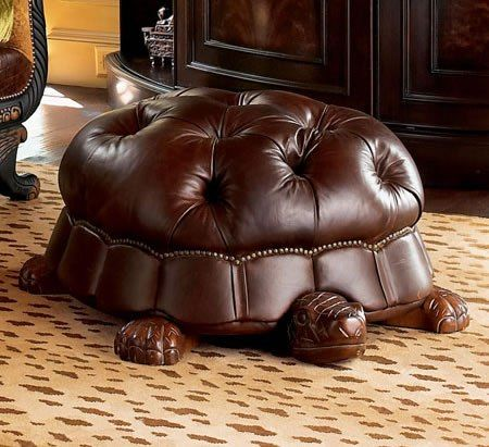 Tortoise Footstool--This is so awesome! I want it
