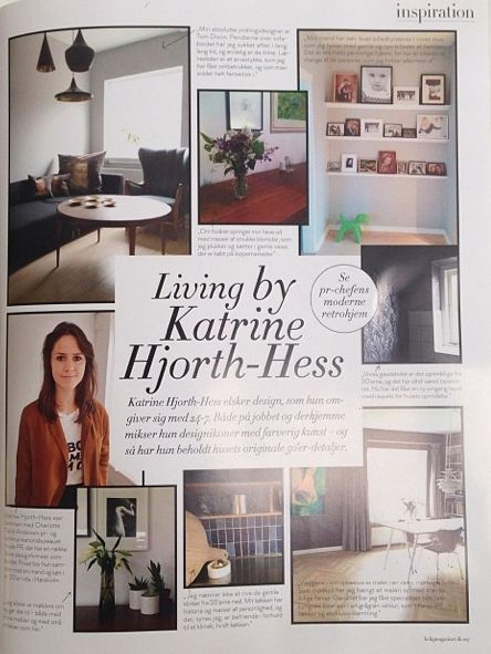 Katrine is showing her lovely home in the Danish interior magazine Bolig Magasinet