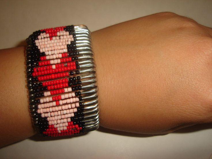 safety pin 2 heart bracelet