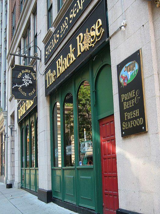 The Black Rose Irish Pub - Boston.  I never wanted to leave this Pub.  Met many Irish folks.  Fun place.