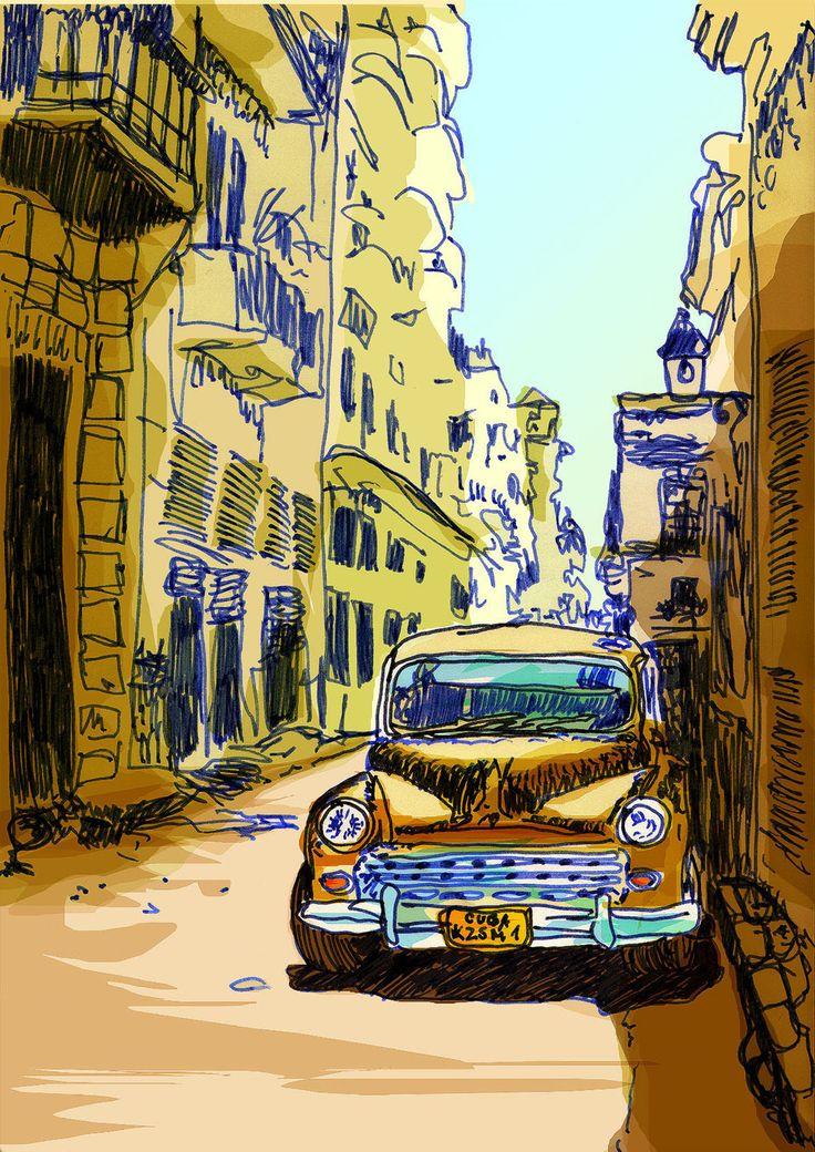 Side Street in Havana.