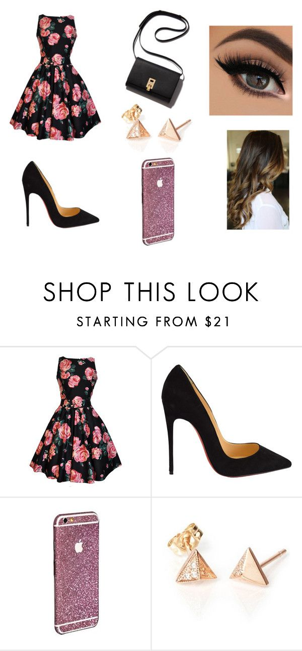 """""""Untitled #68"""" by karenrodriguez-iv on Polyvore featuring Christian Louboutin, women's clothing, women's fashion, women, female, woman, misses and juniors"""