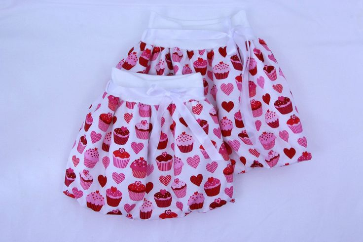 Pink cupcakes balloon skirt for girls, bubble skirt, summer skirt, party skirt, toddler skirt, elastic waist skirt, mommy and me outfit by ElzahDesign on Etsy
