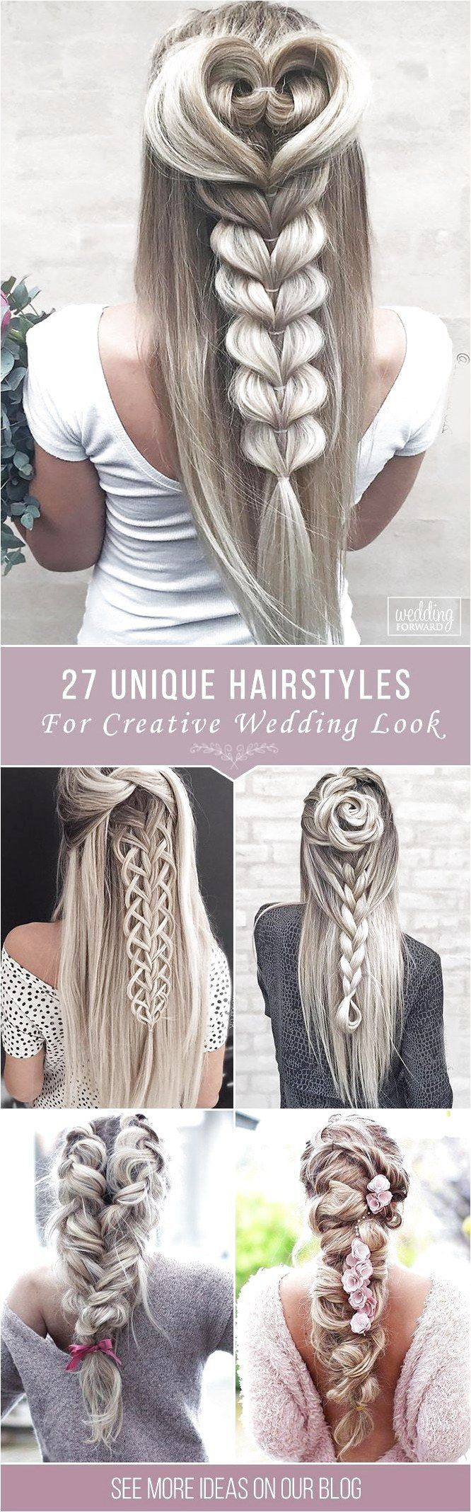 27 Creative  Unique Wedding Hairstyles From creative hairstyles with romant clic