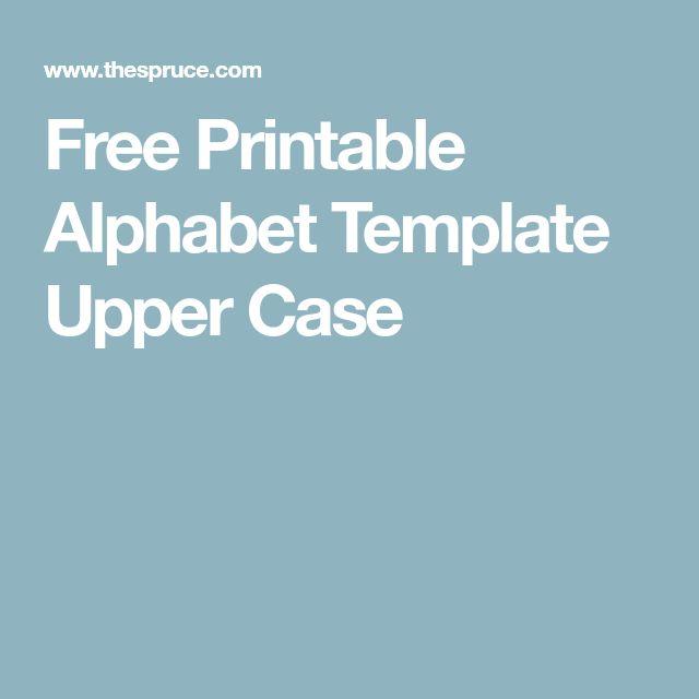 Best 25+ Alphabet templates ideas on Pinterest Alphabet letter - free letters templates