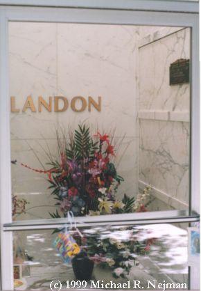 Michael Landon  October 31, 1936 - July 1, 1991  Hillside Memorial Park, Culver City, California