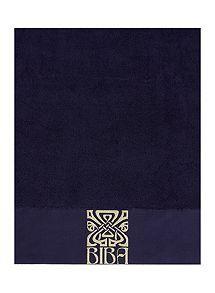 View product Biba Gold logo bath towel range in navy