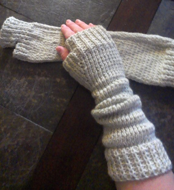 Warm Knit Extra Long Fingerless Gloves  Arm by DOVIESlovingKNITS, $30.00