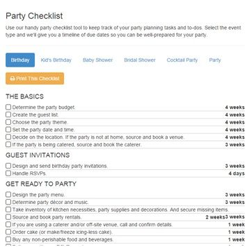 32 best Planning Checklists images on Pinterest Birthday party - free party planner template