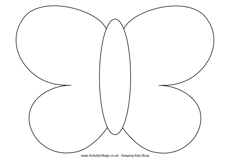 butterfly shape outline