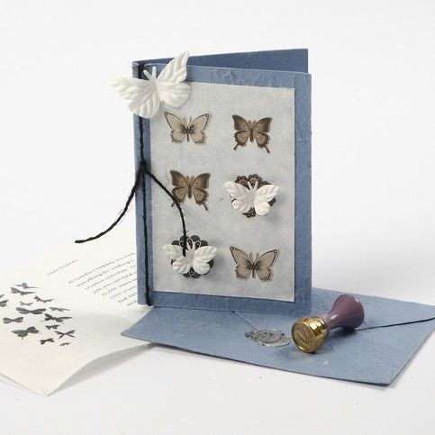 Handmade Greeting Cards with Print and Stickers