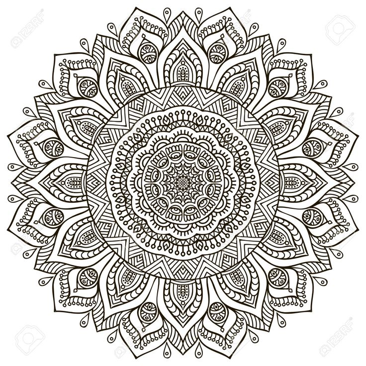 Mandala Background. Vintage Decorative Elements. Hand Drawn Background Royalty Free Cliparts, Vectors, And Stock Illustration. Pic 42201414.