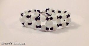 Bratara handmade ✿ Black Spots 18 Ron