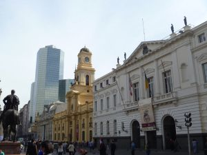 Some of the historical buildings in downtown Santiago.  Chile// Travel// Backpacking// Tips// Things to do