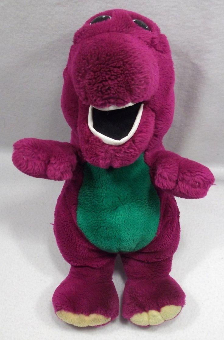 """1992 Barney the Purple dinosaur 14"""" plush toy doll by DAKIN A"""