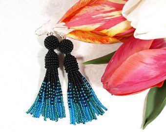 Oscar de la renta tassel earrings   Etsy DK