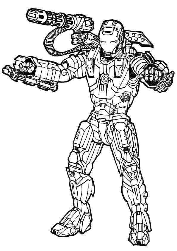 War Machine Avengers Colouring Page Avengers Coloring Pages Avengers Coloring Marvel Coloring