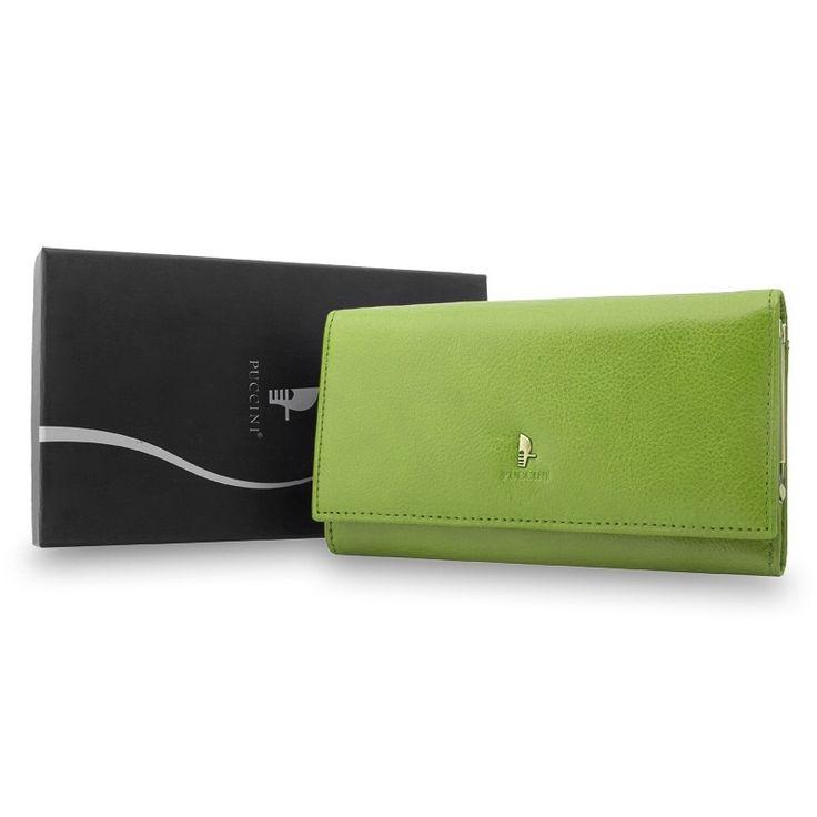 Portfel damski Puccini P1704 w kolorze zielonym