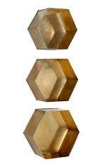 Ellos Home Vägghylla Hexagon, 3-pack Mässing, Multi - Småförvaring | Ellos Mobile