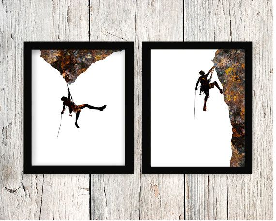 Rock Art escalada escalada deportes extremos por BRememberedDesigns