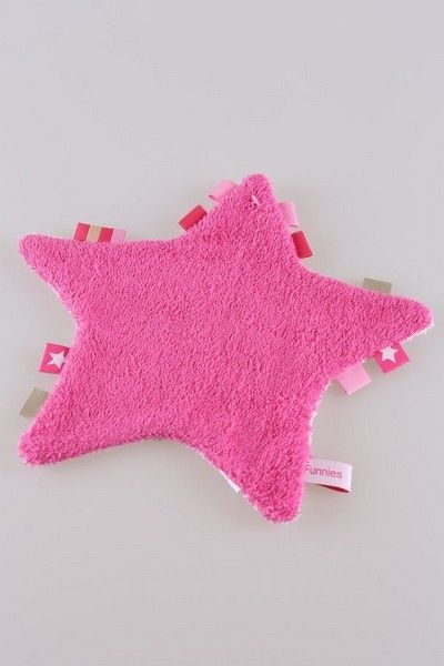 Labeldoekje ster roze