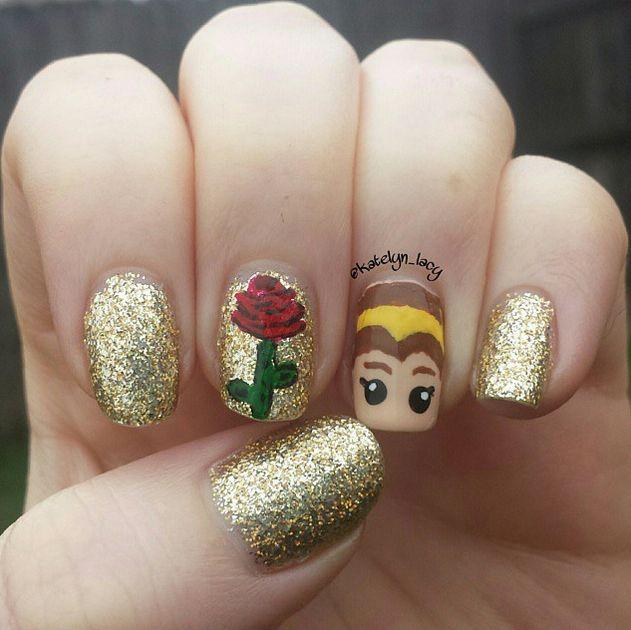 Princess Nail Art: 25+ Best Ideas About Belle Nails On Pinterest