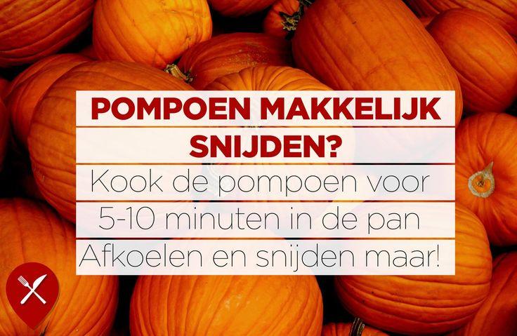 De Halloweenpompoenen zijn vandaag in overvloed te zien, maar wil jij er eentje schillen? Gebruik deze tip!