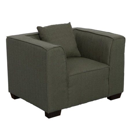 Lida Fabric Armchair, Green