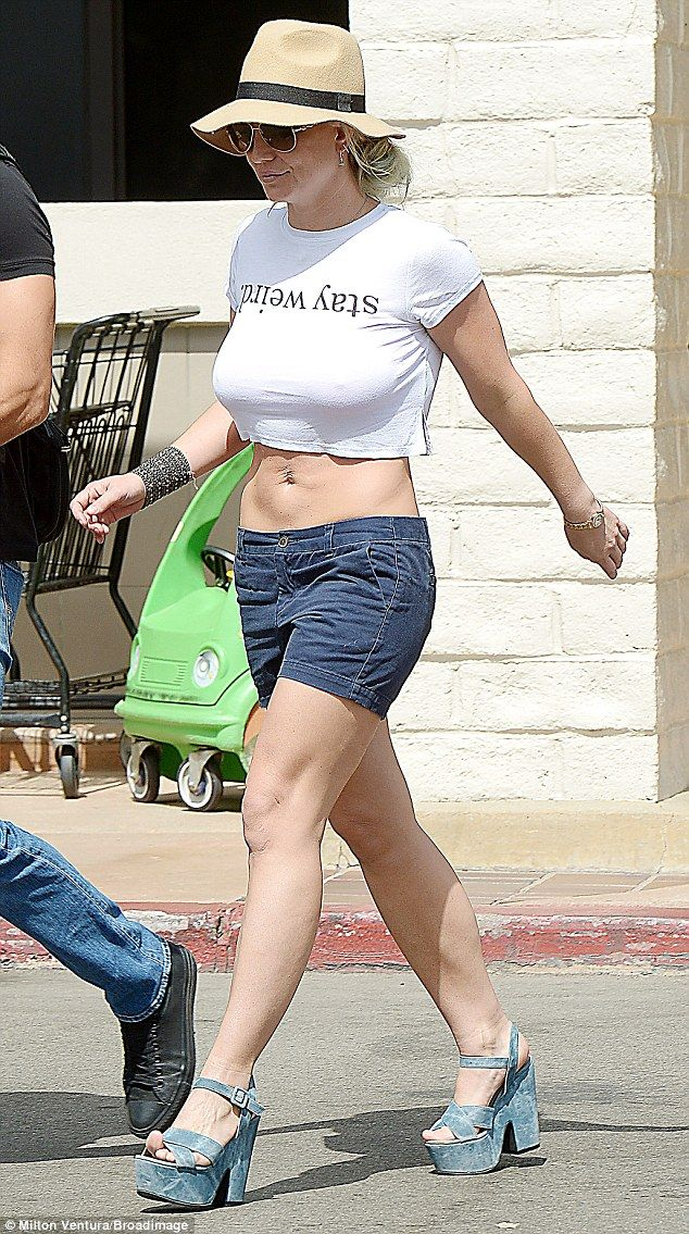Britney Spears Makes A Statement In A Stay Weird Crop