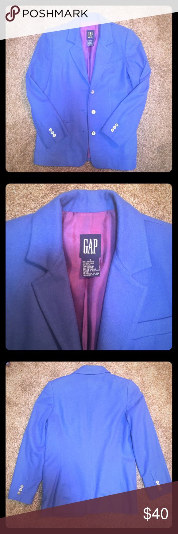 GAP Royal Blue Wool Blazer Excellent condition! 75% wool and 25% nylon. Always willing to negotiate price and bundles (20% off)!😊 GAP Jackets & Coats Blazers
