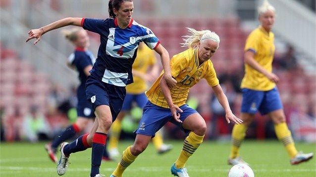 Team GB women's football team take on Sweden in a pre-Olympic friendly >> They will kickoff the Olympics today