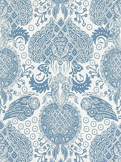 Christian Lacroix for Designers Guild Marseille Wallpaper, Denim