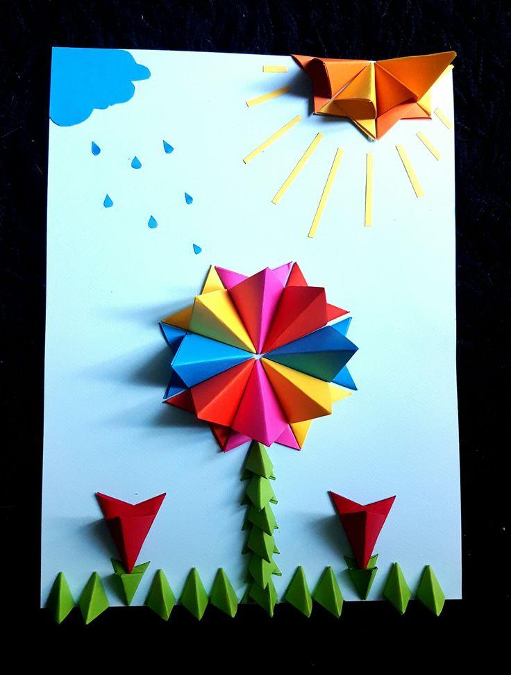 Oltre 1000 idee su origami fleur su pinterest origami bateau origami e bou - Youtube origami fleur ...